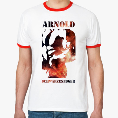 Футболка Ringer-T Арнольд Шварцнеггер