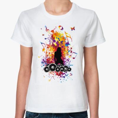 Классическая футболка Музыка и краски