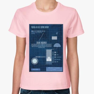 Женская футболка Рецепт коктейль Отвертка