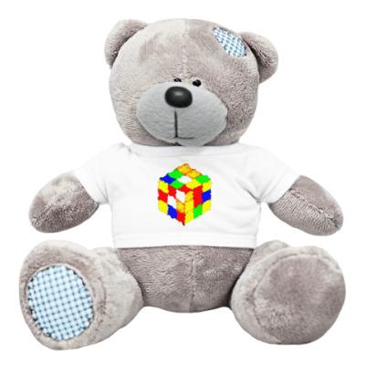 Плюшевый мишка Тедди Кубик Рубика