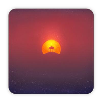 Костер (подставка под кружку) Домик на солнце