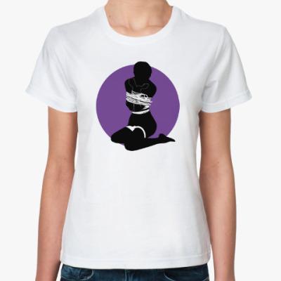 Классическая футболка Шибари силуэт связанной девушки 4v от M&K ART
