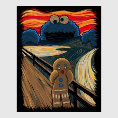 Постер Cookie Monster The Scream