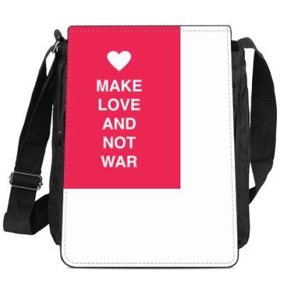 Сумка-планшет Make love and not war