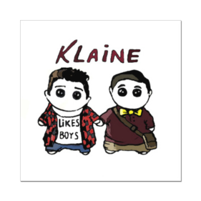 Наклейка (стикер) Klaine ( Glee Cast )