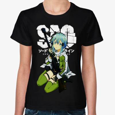 Женская футболка Синон. Sword Art Online