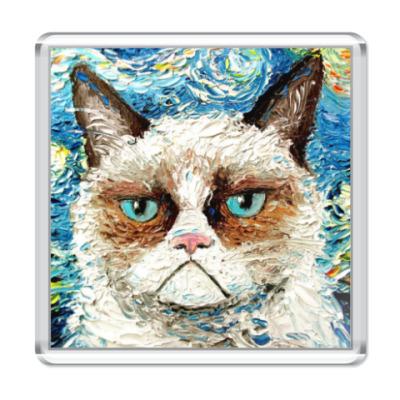 Магнит Угрюмый кот Тард
