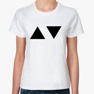 Классическая футболка Тriangles