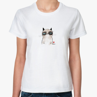 Классическая футболка Угрюмый кот Тард