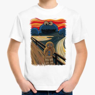 Детская футболка Cookie Monster The Scream