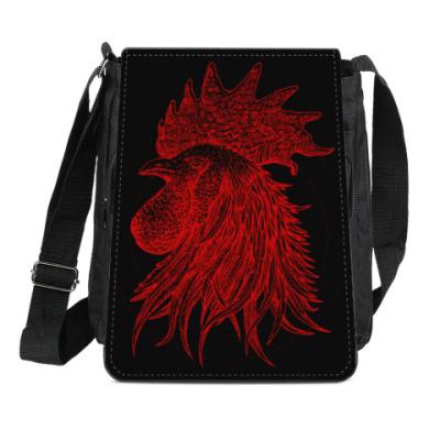 Сумка-планшет Красный петух символ Года