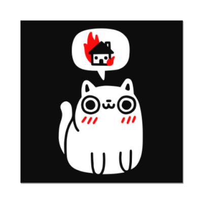 Наклейка (стикер) Котик злой