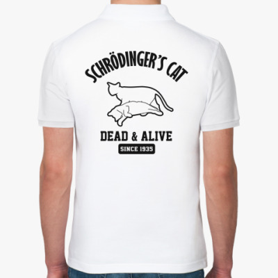 Рубашка поло Кот Шрёдингера