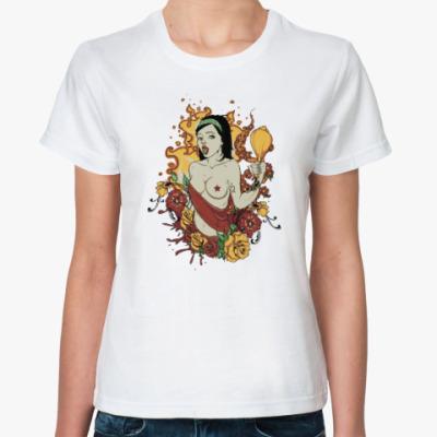 Классическая футболка Hot Girl