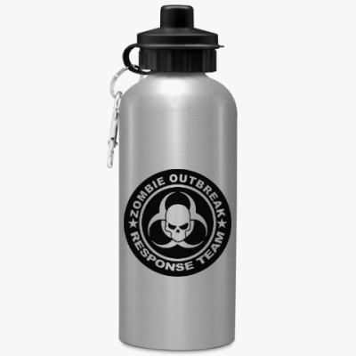 Спортивная бутылка/фляжка Zombie outbreak response team