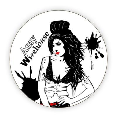 Костер (подставка под кружку) Эми Уайнхаус - Amy Winehouse