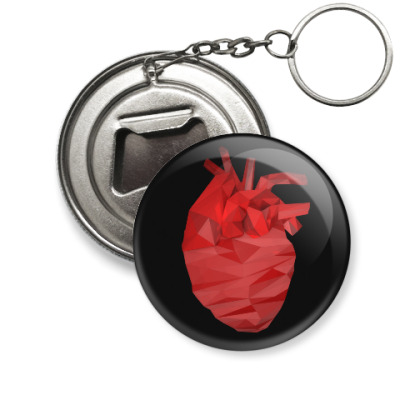 Брелок-открывашка Сердце 3D