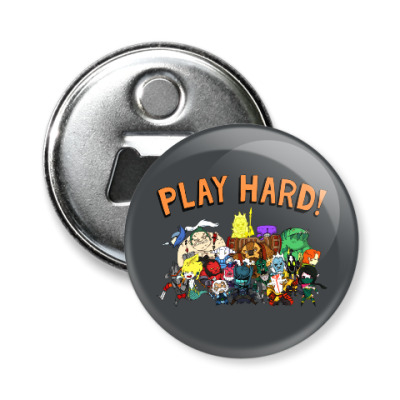 Магнит-открывашка Play Hard!