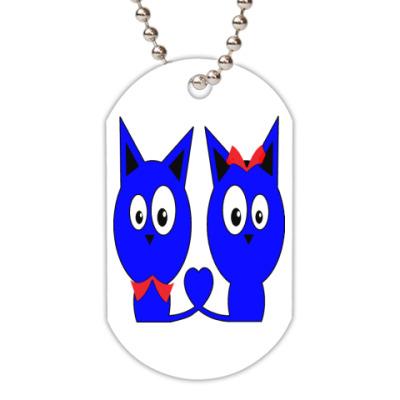 Жетон dog-tag Котики