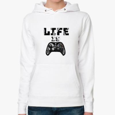 Женская толстовка худи Life is a game