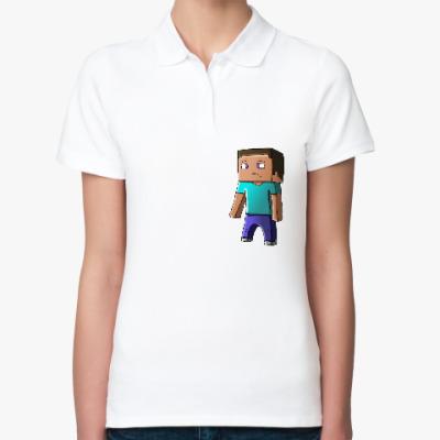 Женская рубашка поло Minecraft Steve