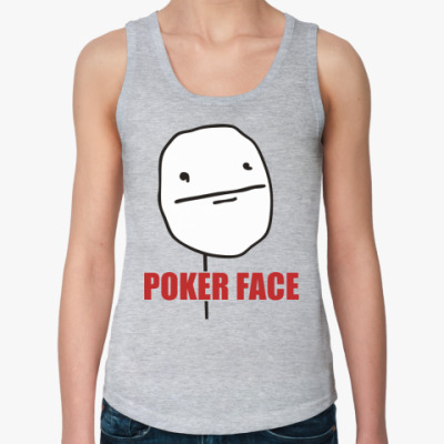 Женская майка Poker face