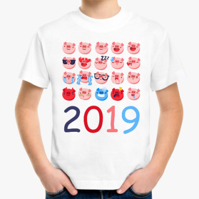 Детская футболка Год свиньи 2019
