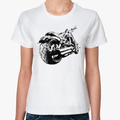 Классическая футболка Мотоцикл