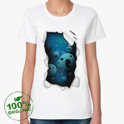 Женская футболка из органик-хлопка 'Смайлы'