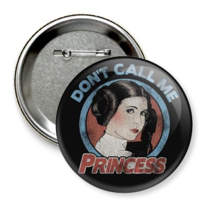 Значок 75мм Star Wars Princess Leia Organa