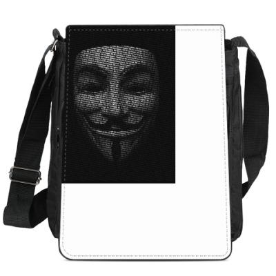 Сумка-планшет Маска Гая Фокса