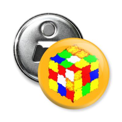 Магнит-открывашка Кубик Рубика