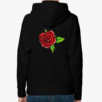 Женская толстовка худи Летняя роза