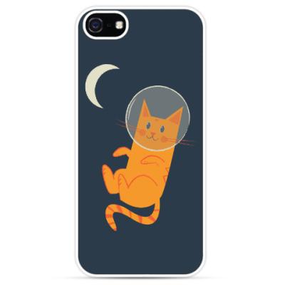 Чехол для iPhone Кот-Космонавт