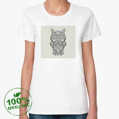 Женская футболка из органик-хлопка Сова