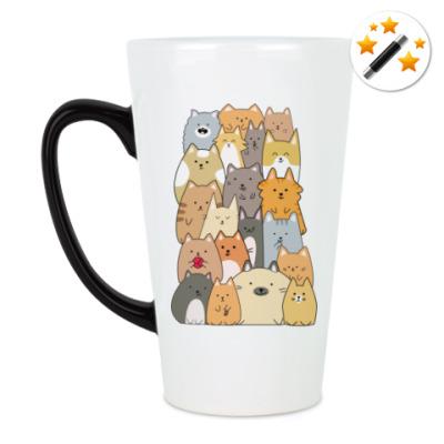 Кружка-хамелеон Смешные коты (funny cats)