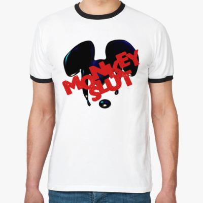 Футболка Ringer-T MONKEYSLUT [MISFITS]