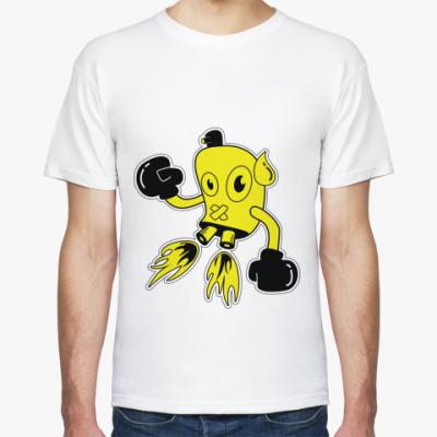 Футболка желтый робот