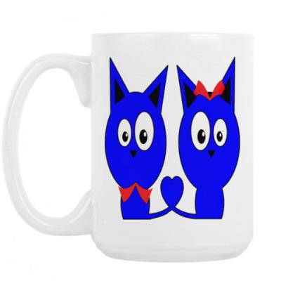 Кружка Влюбленные котики