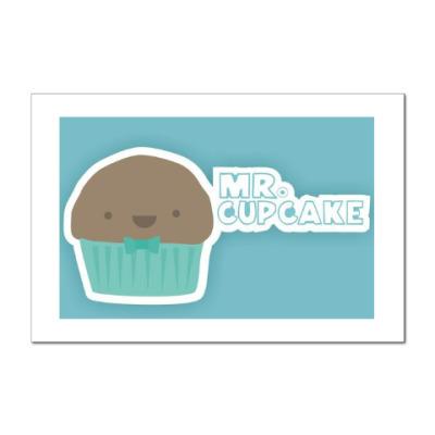 Наклейка (стикер) Mr.Cupcake