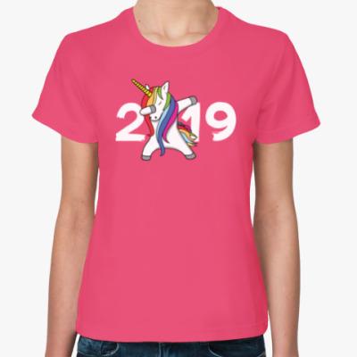 Женская футболка Единорог Дэб 2019