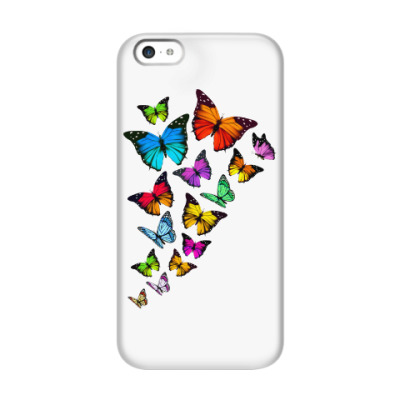 Чехол для iPhone 5c Бабочки