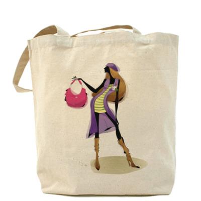 Сумка Холщовая сумка Девушка №2
