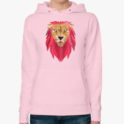 Женская толстовка худи Лев / Lion