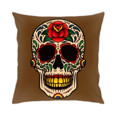 Подушка Skull Rose