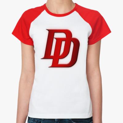 Женская футболка реглан Daredevil