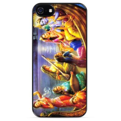Чехол для iPhone Кришна с гопи
