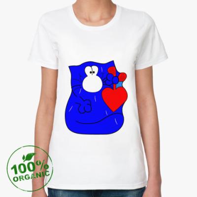 Женская футболка из органик-хлопка котэ