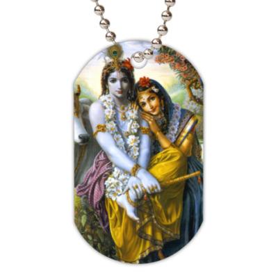 Жетон dog-tag Radha Krishna