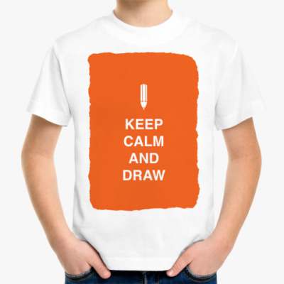 Детская футболка Keep calm and draw